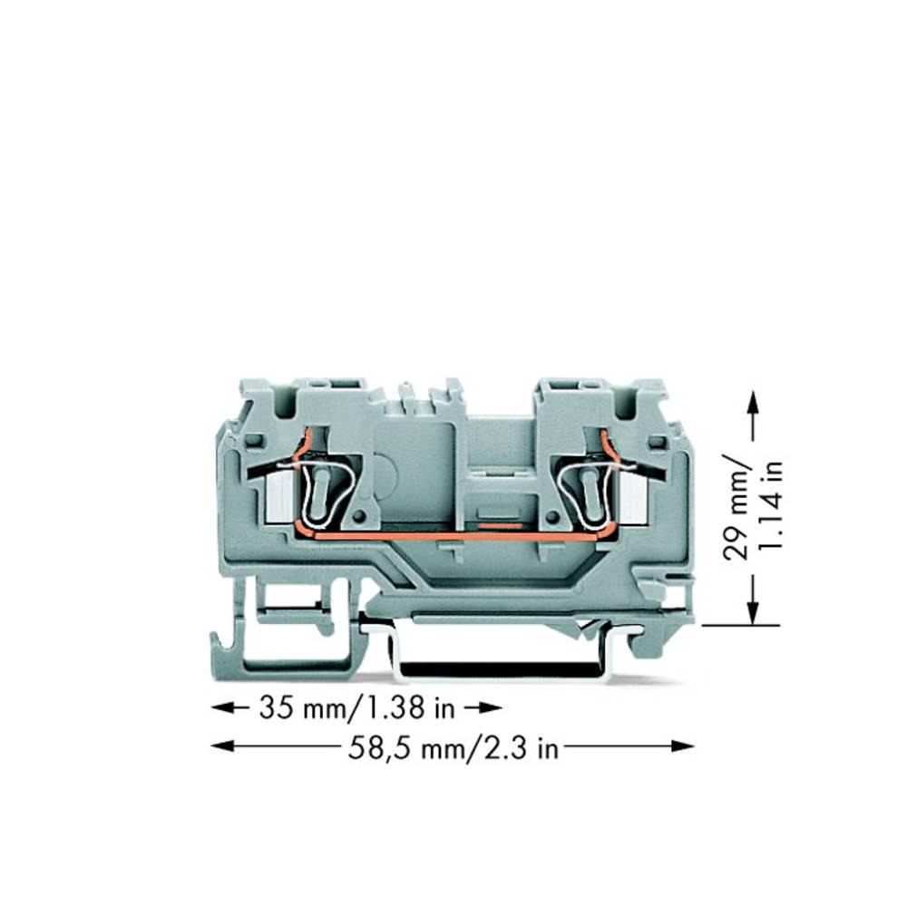 Gennemgangsklemme 5 mm Trækfjeder Belægning: L Grå WAGO 880-901/999-940 100 stk