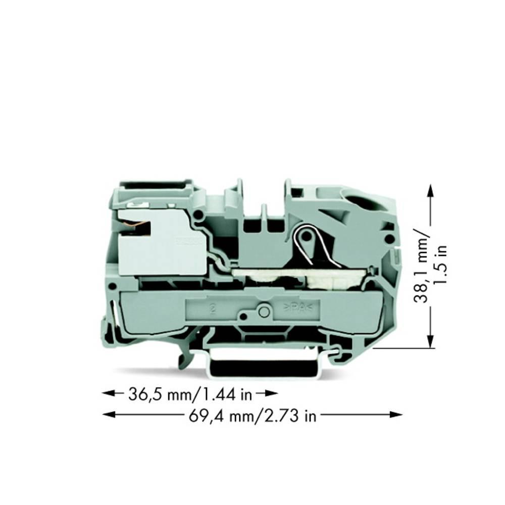 Potentialklemme 12 mm Trækfjeder Grå WAGO 2016-7111 25 stk