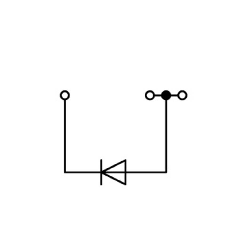 Diodeklemme 6.20 mm Trækfjeder Belægning: L Grå WAGO 2004-1311/1000-401 50 stk