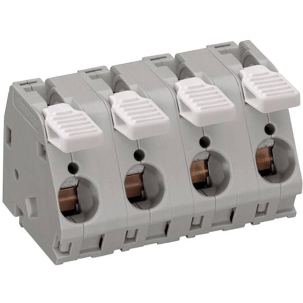 Fjederkraftsklemmeblok WAGO 6.00 mm² Poltal 3 Grå 25 stk