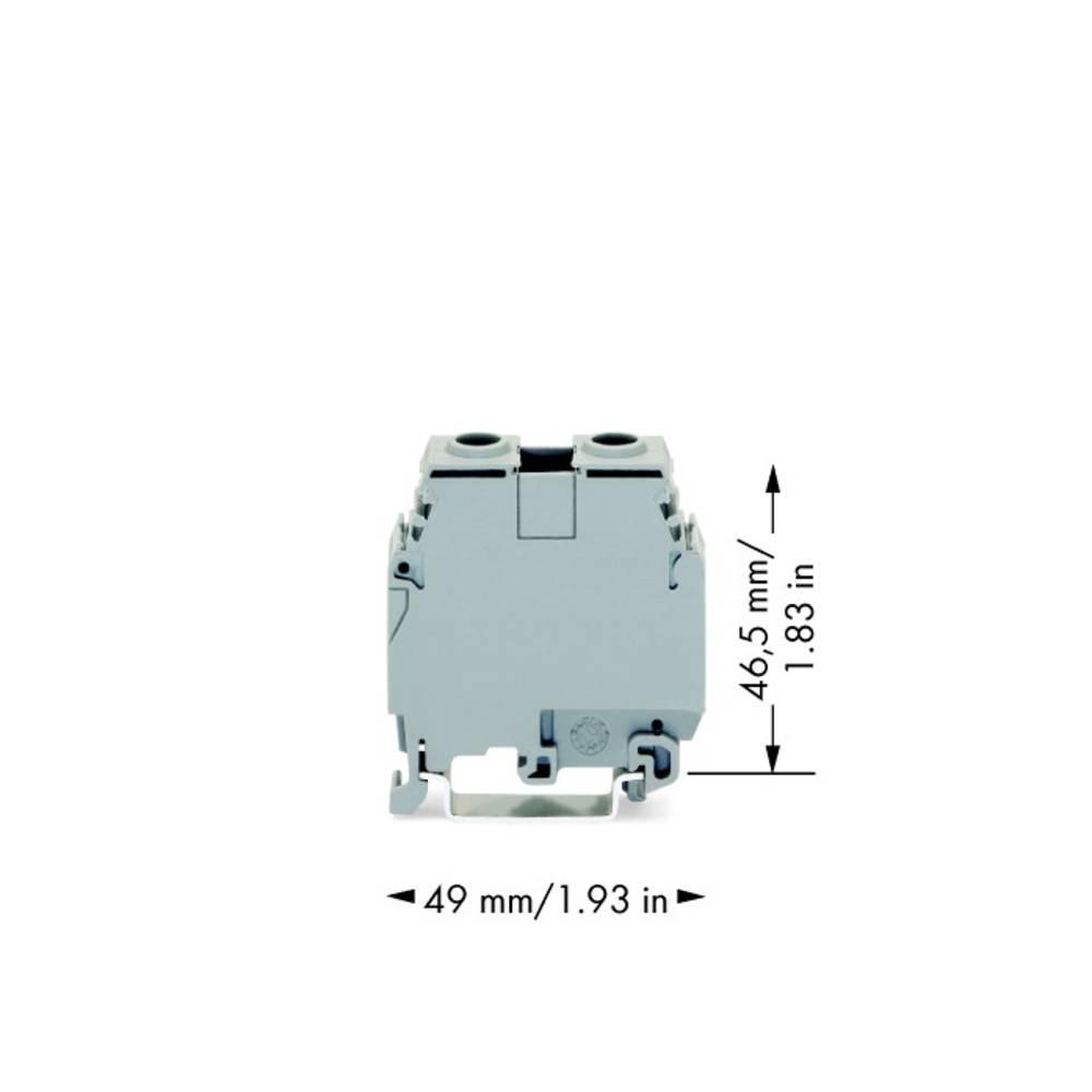 Gennemgangsklemme 16 mm Skruer Belægning: L Grå WAGO 400-415/415-124 20 stk