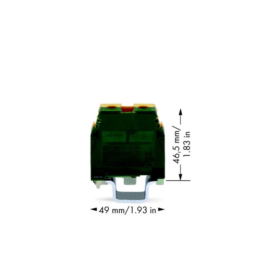 Jordklemme 16 mm Skruer Belægning: Terre Grøn-gul WAGO 400-465/465-111 20 stk