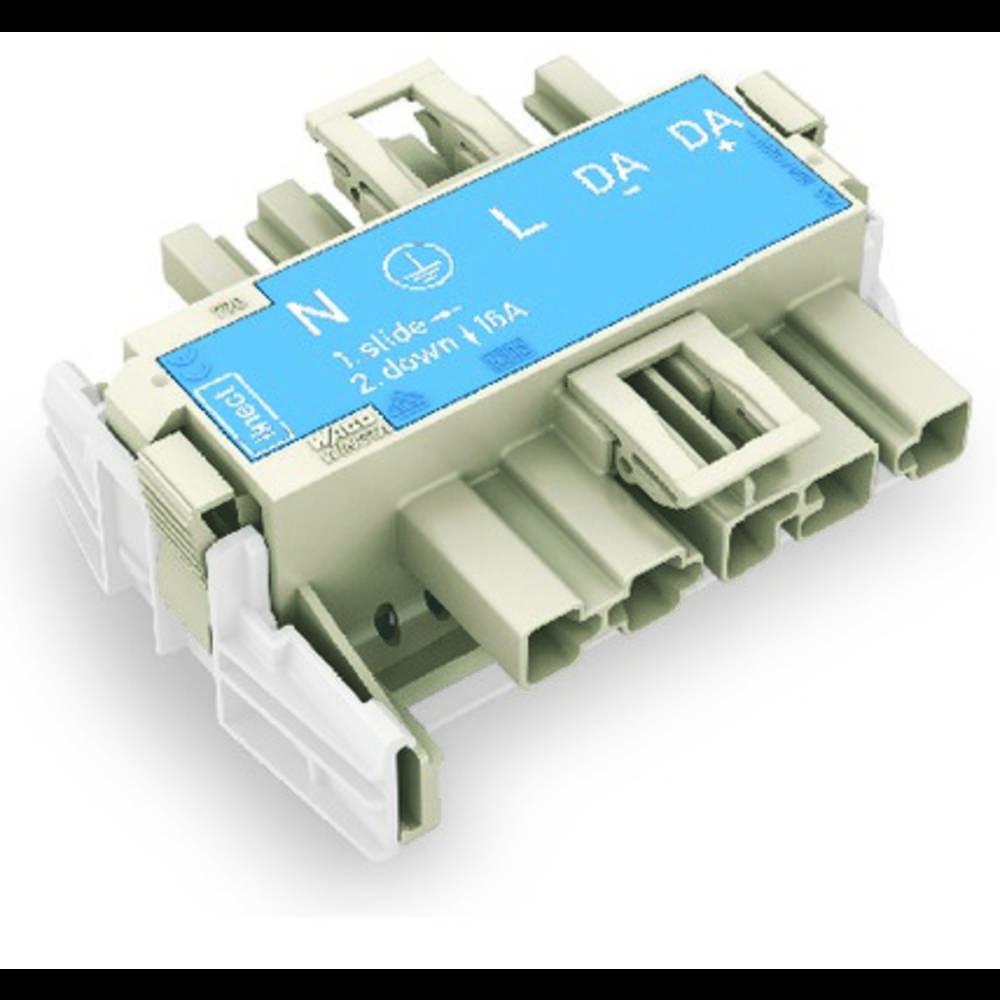 Strømforsyningsadapter WAGO Samlet poltal 5 Hvid 20 stk
