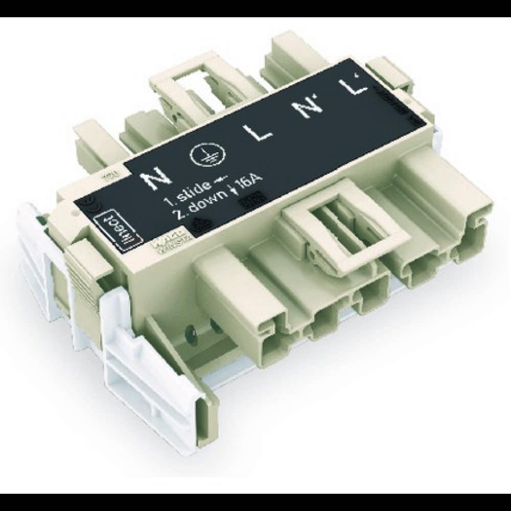 Strømforsyningsadapter WAGO Samlet poltal 5 Mørkegrå 20 stk