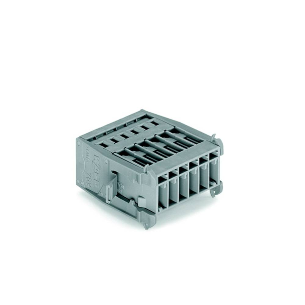 Tilslutningskabinet-kabel 769 Samlet antal poler 6 WAGO 769-606/005-000 Rastermål: 5 mm 25 stk