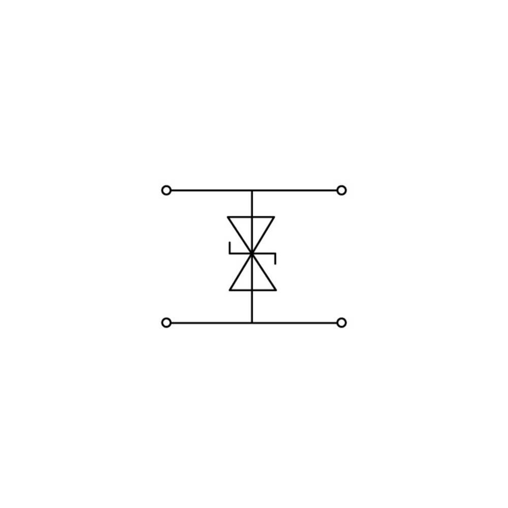 Dobbeltlags diodeklemme 10 mm Trækfjeder Belægning: L Grå WAGO 280-944/281-595 50 stk
