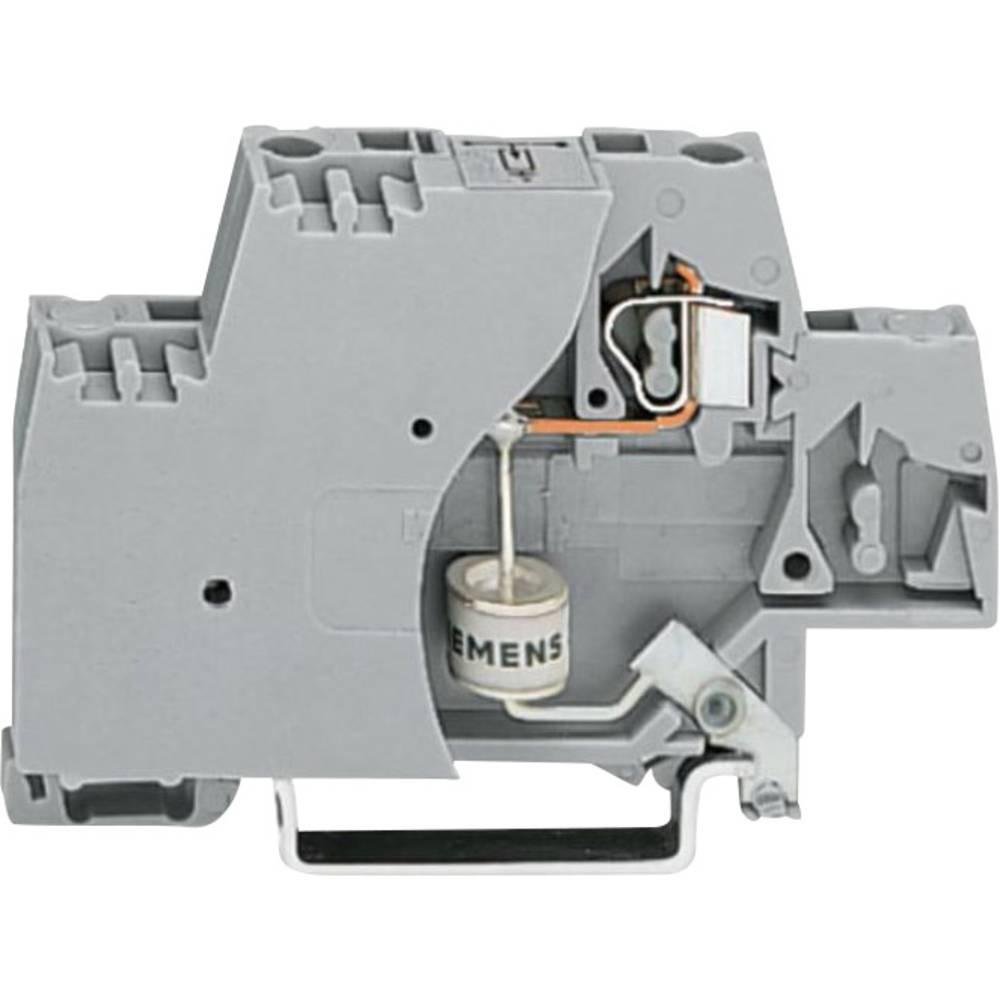 Enkelt klemme 10 mm Trækfjeder Belægning: L Grå WAGO 280-504/281-617 50 stk