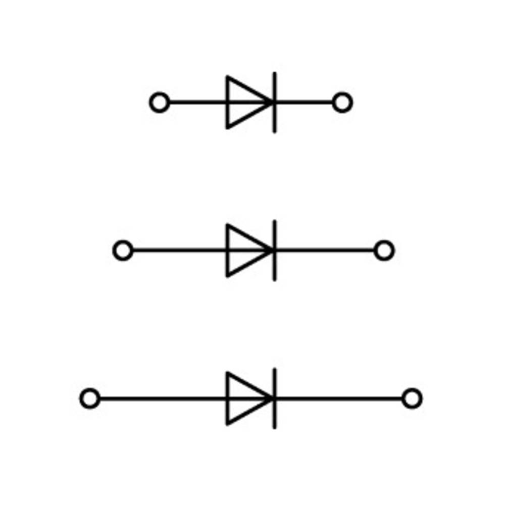 Trippel-diodeklemme 5 mm Trækfjeder Belægning: L Grå WAGO 870-596/281-674 50 stk