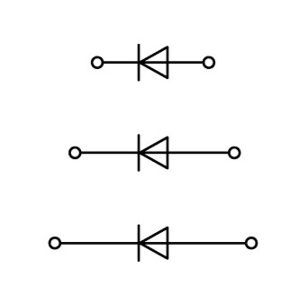 Trippel-diodeklemme 5 mm Trækfjeder Belægning: L Grå WAGO 870-596/281-673 50 stk