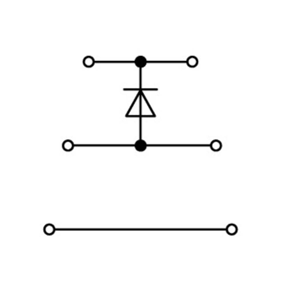 Trippel-diodeklemme 5 mm Trækfjeder Belægning: L Grå WAGO 870-590/281-410 50 stk