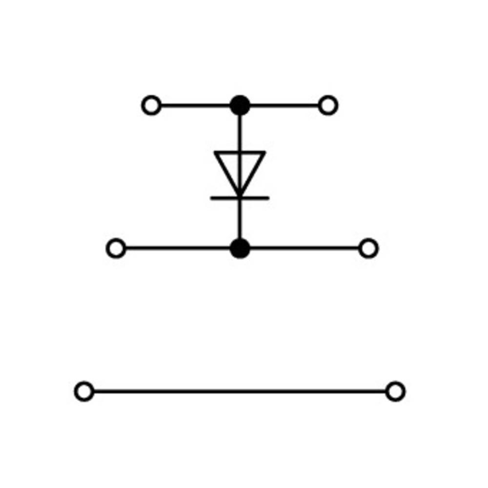 Trippel-diodeklemme 5 mm Trækfjeder Belægning: L Grå WAGO 870-590/281-411 50 stk