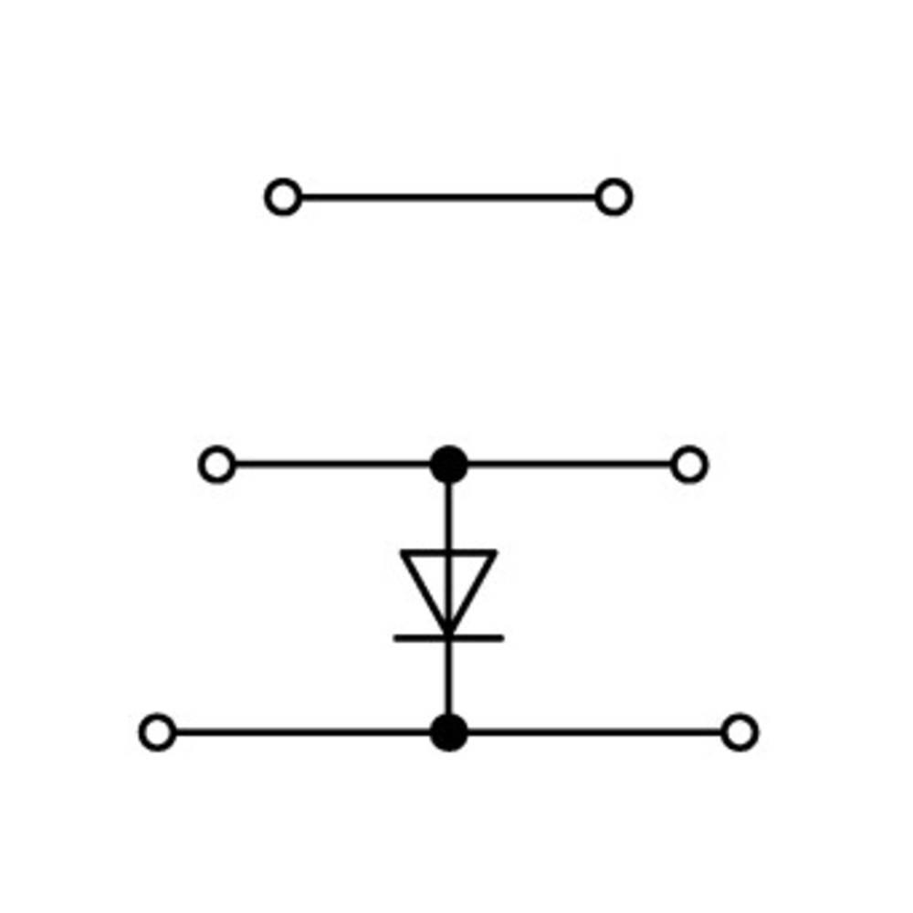 Trippel-diodeklemme 5 mm Trækfjeder Belægning: L Grå WAGO 870-590/281-676 50 stk