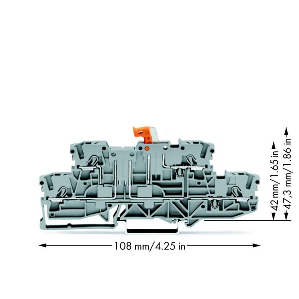Dobbeltlags-skilleklemme 5.20 mm Trækfjeder Belægning: L, L Grå WAGO 2002-2971 50 stk