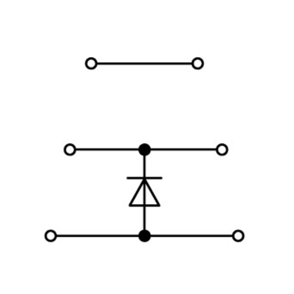 Trippel-diodeklemme 5 mm Trækfjeder Belægning: L Grå WAGO 870-590/281-780 50 stk