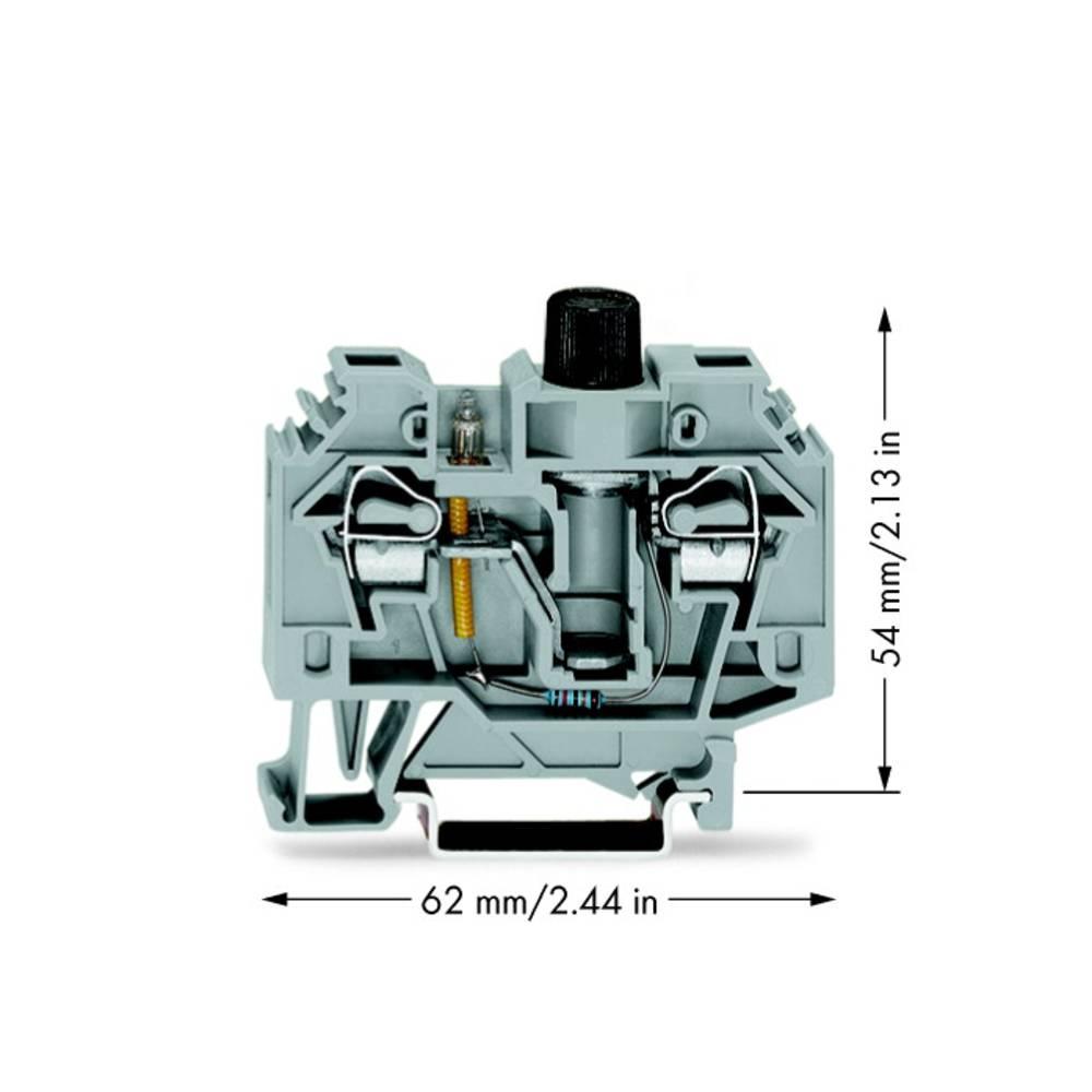 Sikringsklemme 13 mm Trækfjeder Belægning: L Grå WAGO 282-128/281-417 40 stk