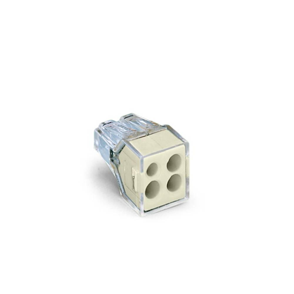 Priključna sponka starr: 0.75-2.5 mm št.polov: 4 WAGO 773-124 1000 kos Transparentna