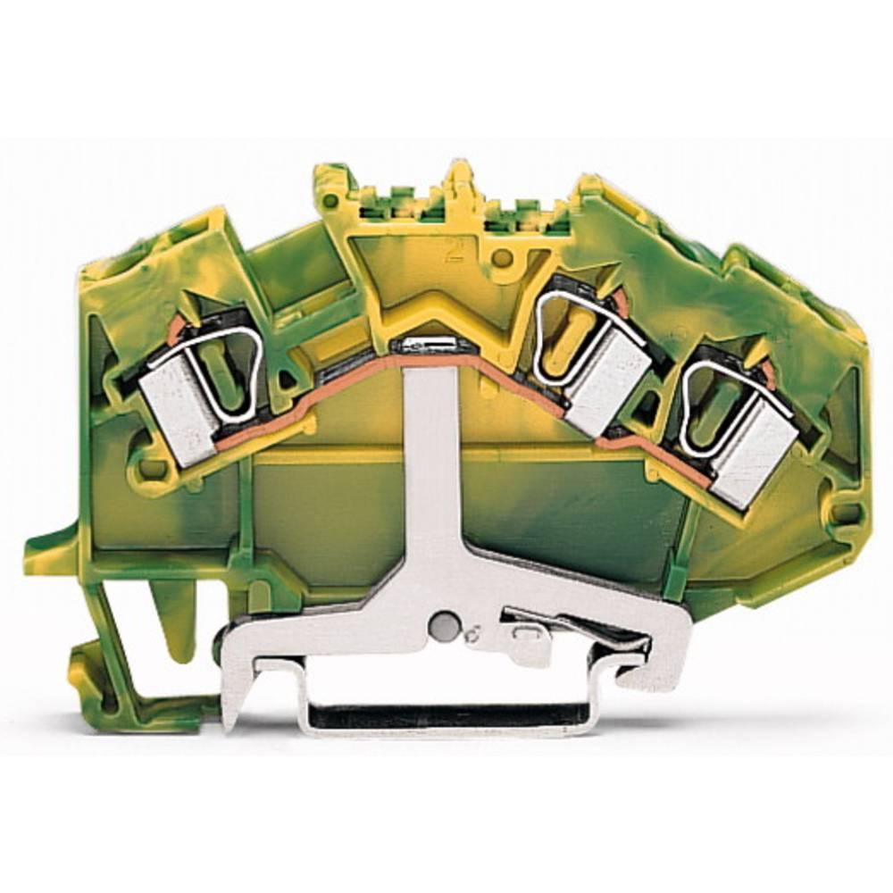 Jordklemme 6 mm Trækfjeder Belægning: Terre Grøn-gul WAGO 781-637/999-950 50 stk