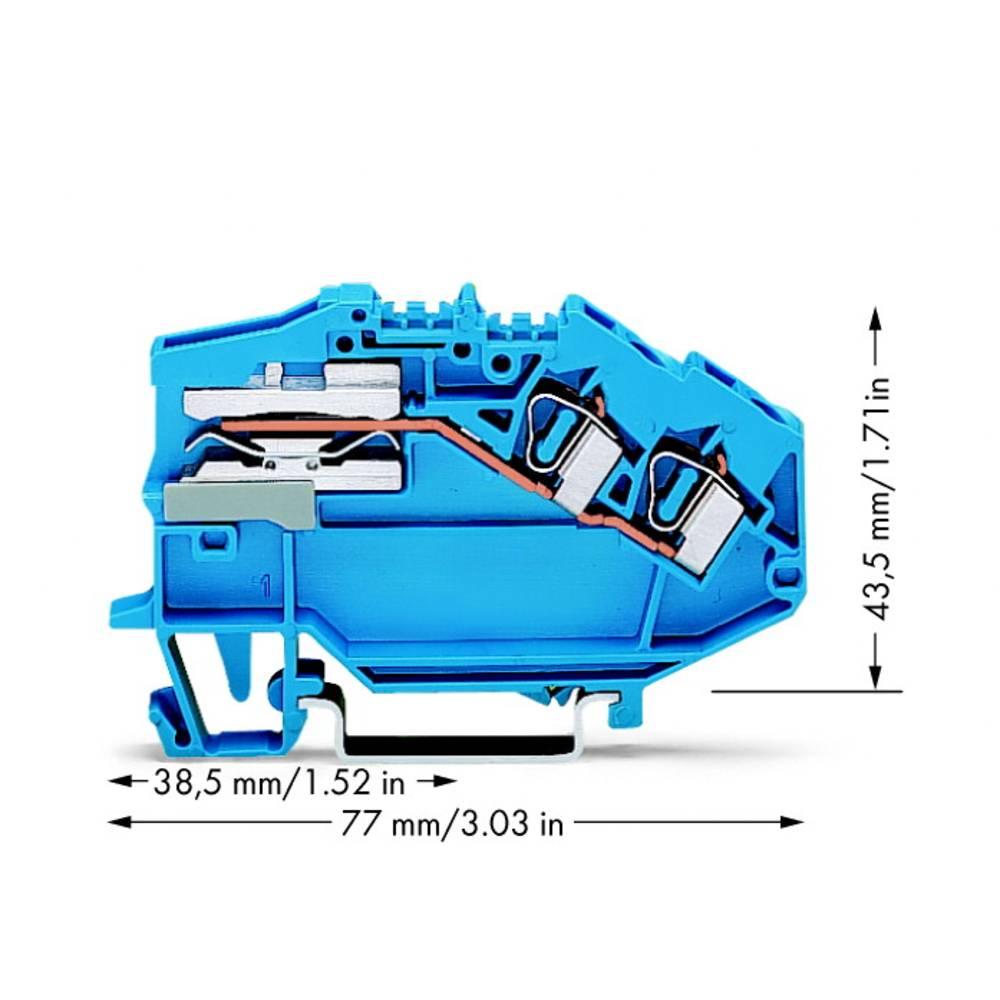 Skilleklemme 6 mm Trækfjeder Belægning: N Blå WAGO 781-643 50 stk