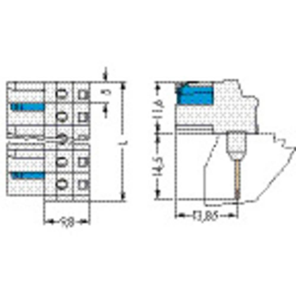 Tilslutningskabinet-printplade 722 Samlet antal poler 1 WAGO 722-733/005-000 50 stk