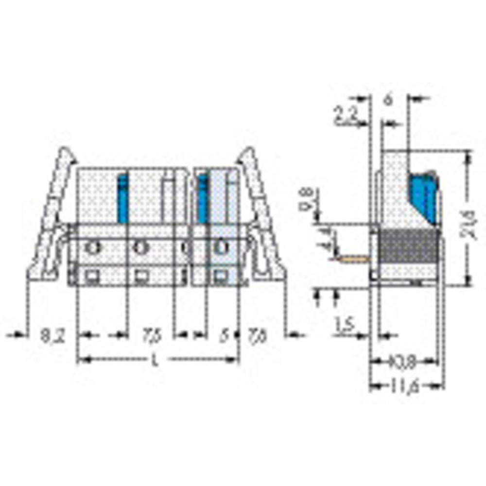 Tilslutningskabinet-printplade 722 (value.1361129) Samlet antal poler 1 WAGO 722-842/005-000/039-000 25 stk
