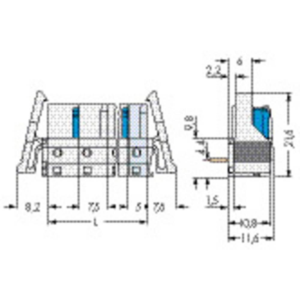 Tilslutningskabinet-printplade 722 (value.1361129) Samlet antal poler 1 WAGO 722-836/005-000/039-000 50 stk