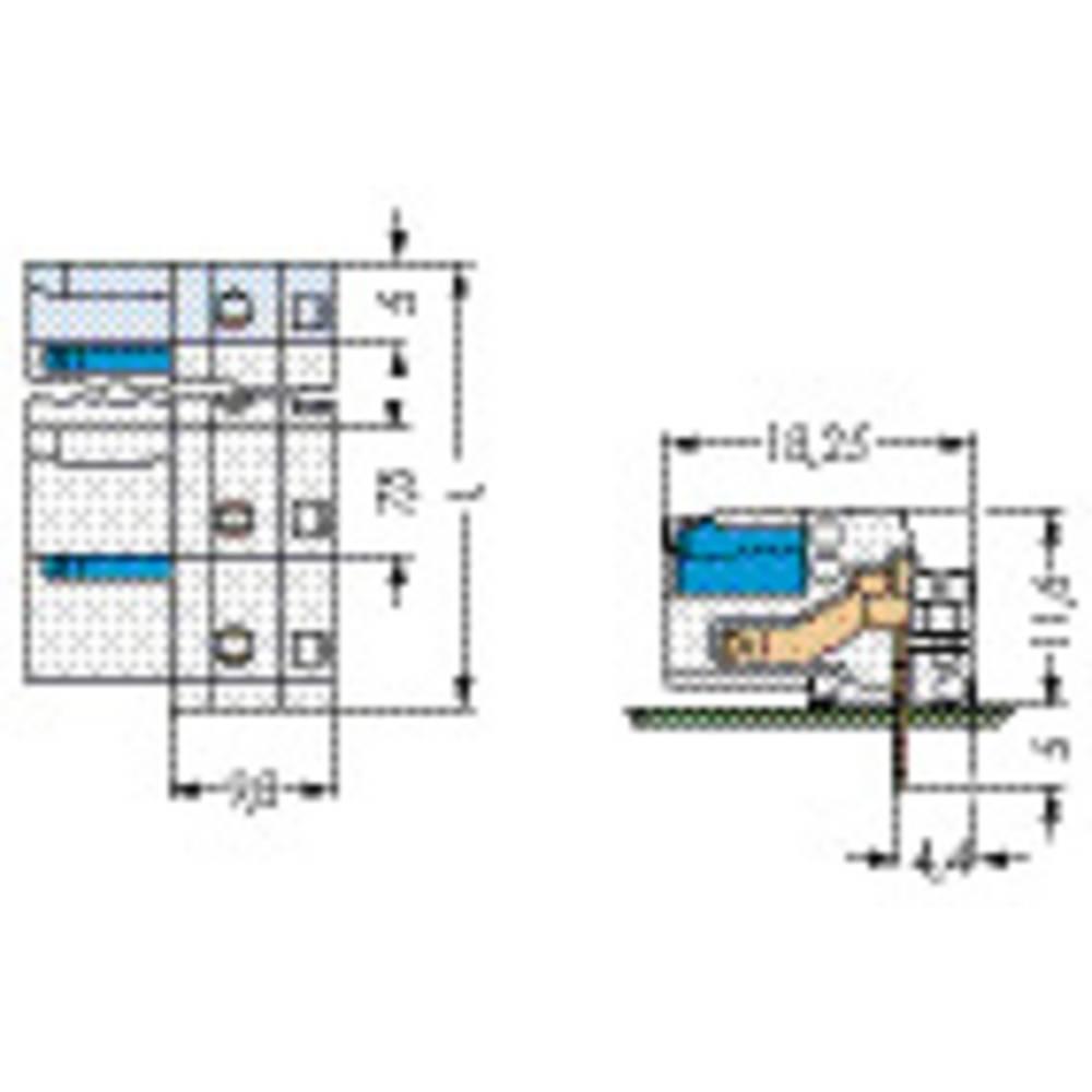Tilslutningskabinet-printplade 722 (value.1361129) Samlet antal poler 5 WAGO 722-832/005-000 100 stk