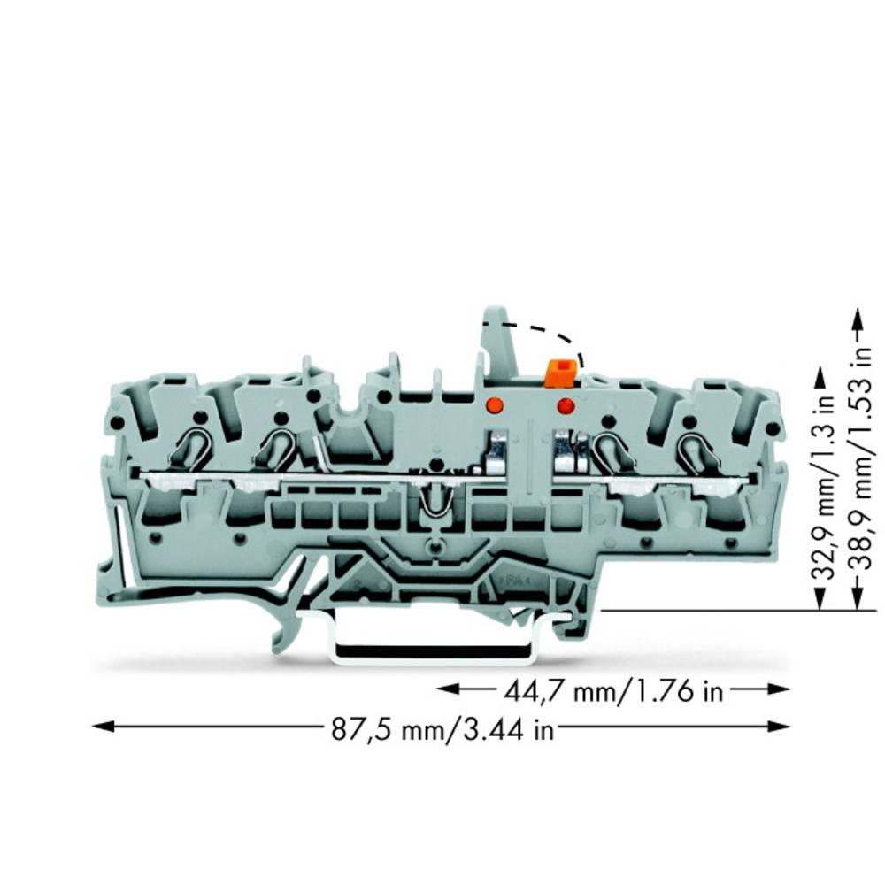 Skilleklemme 5.20 mm Trækfjeder Belægning: L Grå WAGO 2002-1871/401-000 50 stk