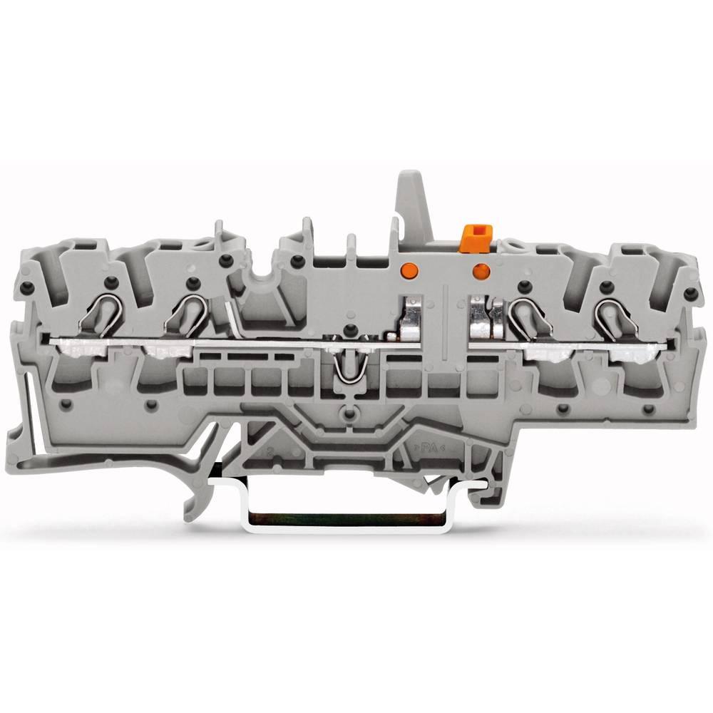 Skilleklemme 5.20 mm Trækfjeder Belægning: N Blå WAGO 2002-1874/401-000 50 stk