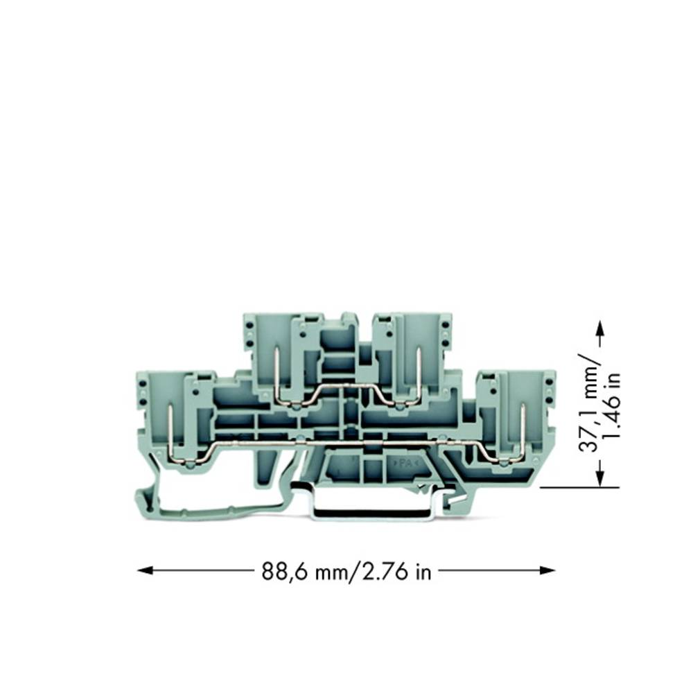 Basisklemme 5 mm Trækfjeder, Indstiks-klemme Belægning: L, L Grå WAGO 870-151 50 stk