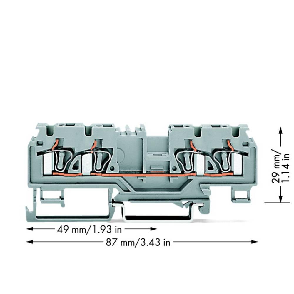 Gennemgangsklemme 5 mm Trækfjeder Belægning: L Grå WAGO 880-831/999-940 50 stk