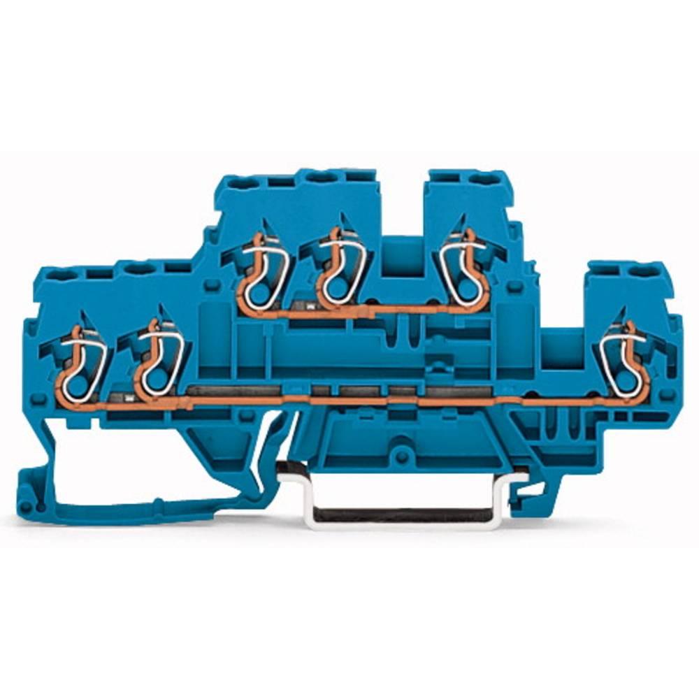 Dobbeltlags-gennemgangsklemme 5 mm Trækfjeder Belægning: N, N Blå WAGO 870-534 50 stk