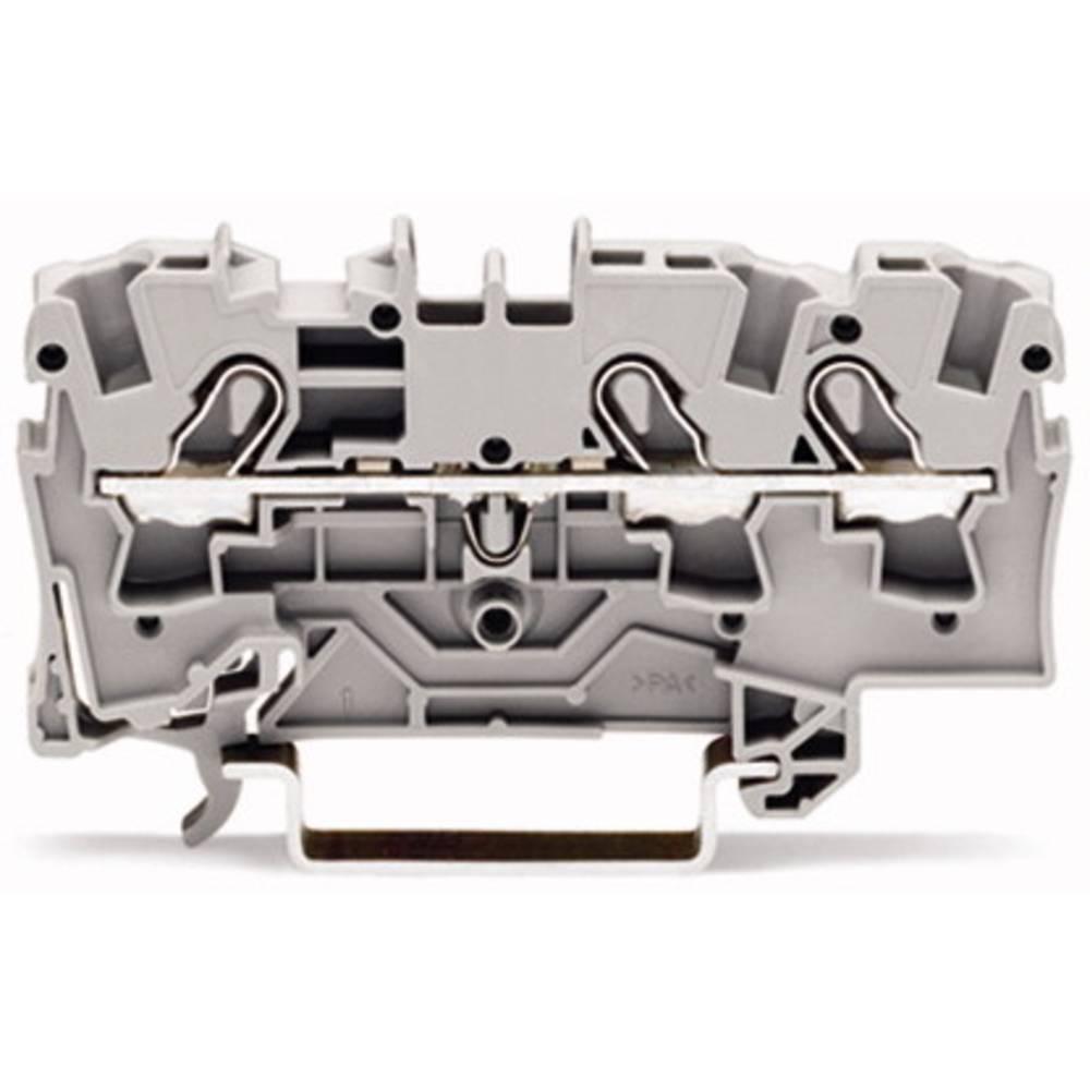 Gennemgangsklemme 6.20 mm Trækfjeder Gul WAGO 2004-1306 50 stk