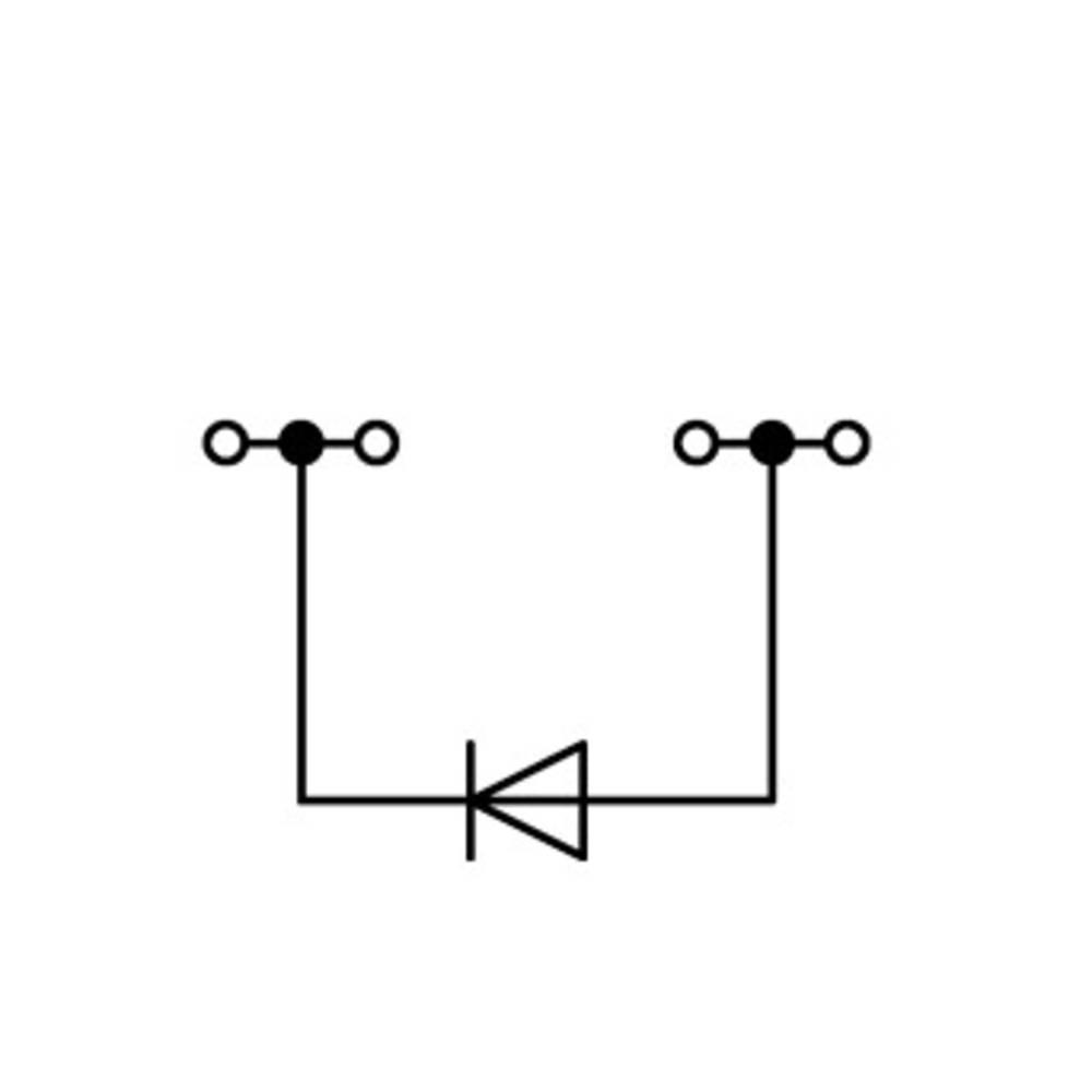 Diodeklemme 6.20 mm Trækfjeder Belægning: L Grå WAGO 2004-1411/1000-401 50 stk