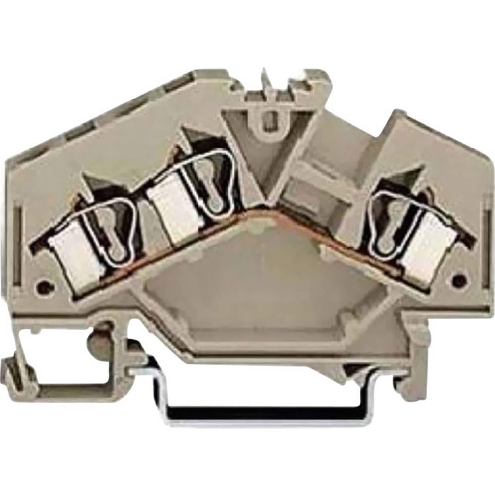 Gennemgangsklemme 6.20 mm Trækfjeder Belægning: L Grå WAGO 281-693 100 stk