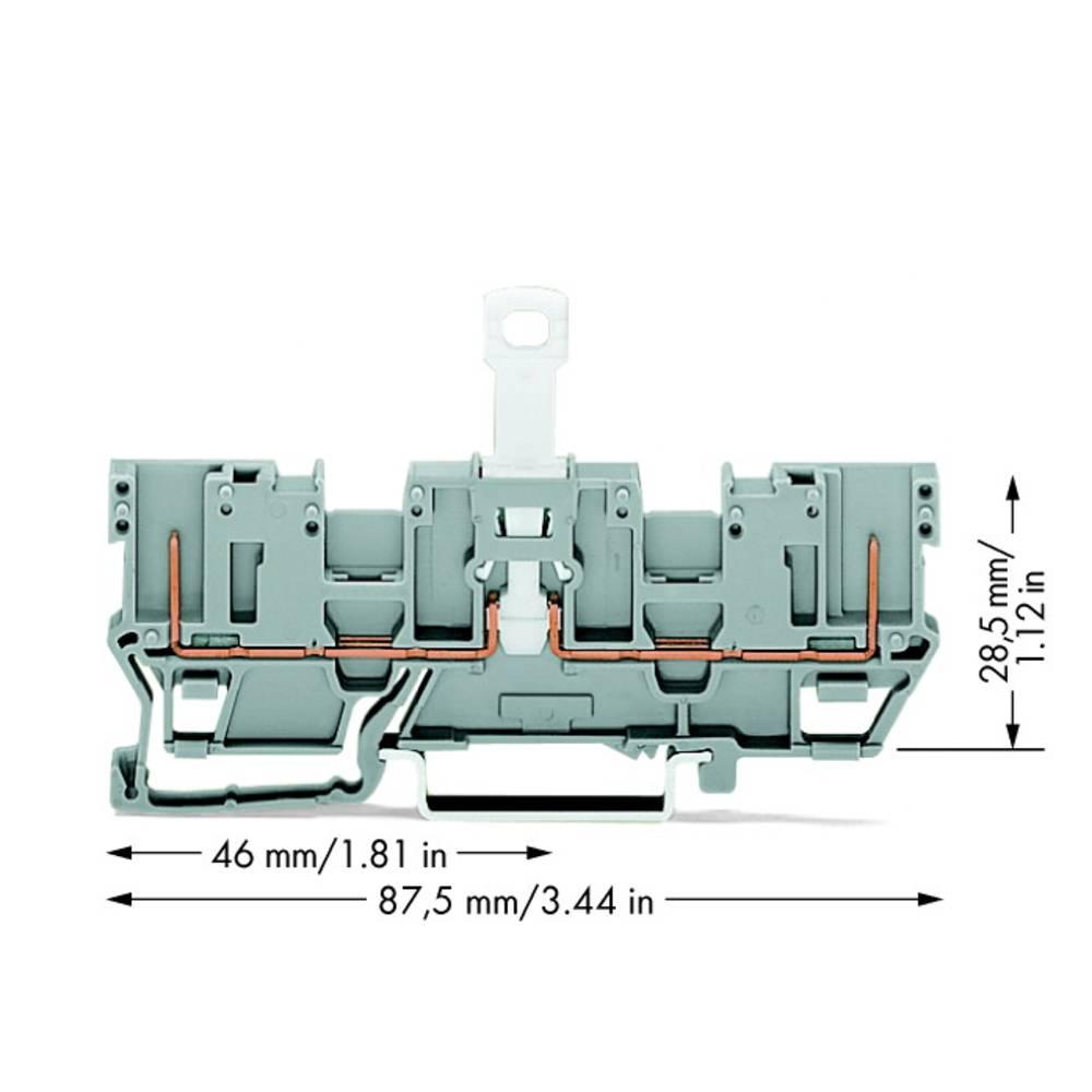 Basisklemme 5 mm Trækfjeder Belægning: L Grå WAGO 769-202 50 stk