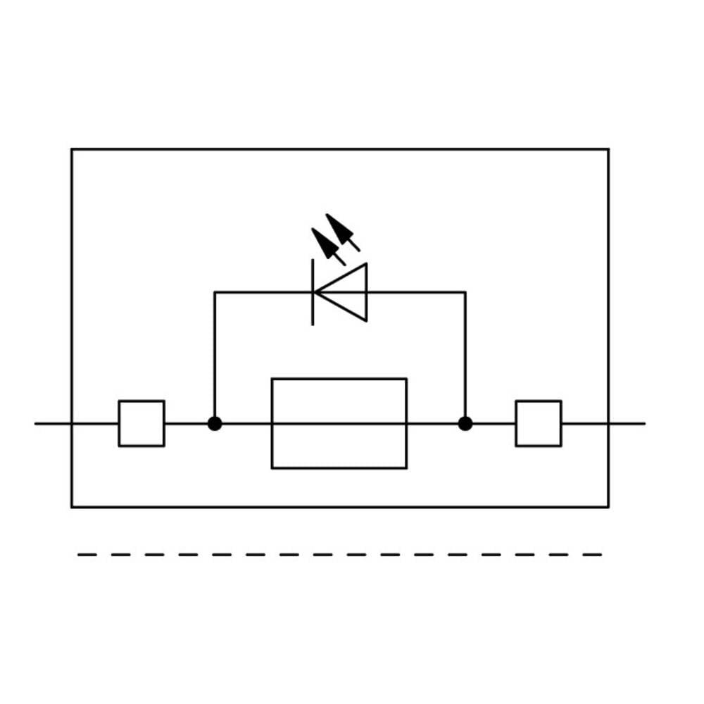 Sikringsklemme 6.20 mm Trækfjeder Belægning: L Grå WAGO 2002-1811/1000-836 50 stk