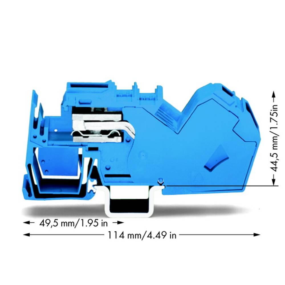 Skilleklemme 16 mm Trækfjeder Belægning: N Blå WAGO 785-613 15 stk