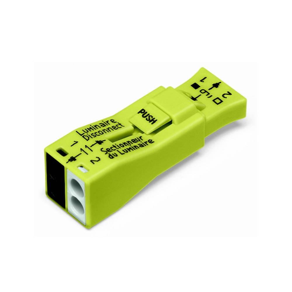 Električa sponka za svetilko toga: 0.75-4 mm št. polov: 2 WAGO 873-902 40 kos rumena