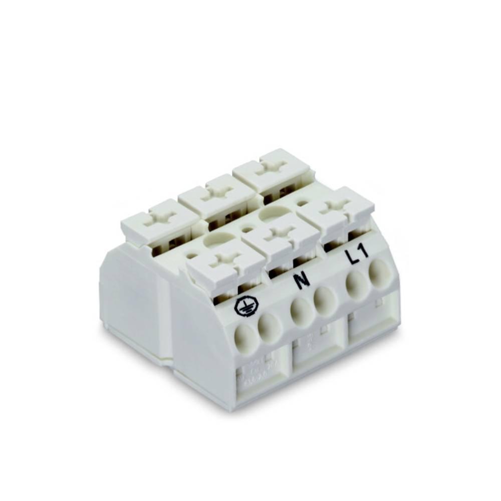 Enhedstilslutningsklemme Fjederklemme Hvid WAGO 862-1603/999-950 250 stk