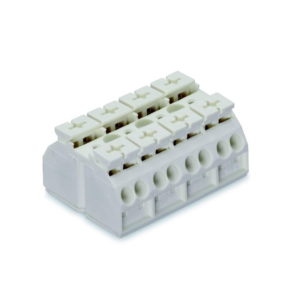 Enhedstilslutningsklemme Fjederklemme Hvid WAGO 862-604 200 stk