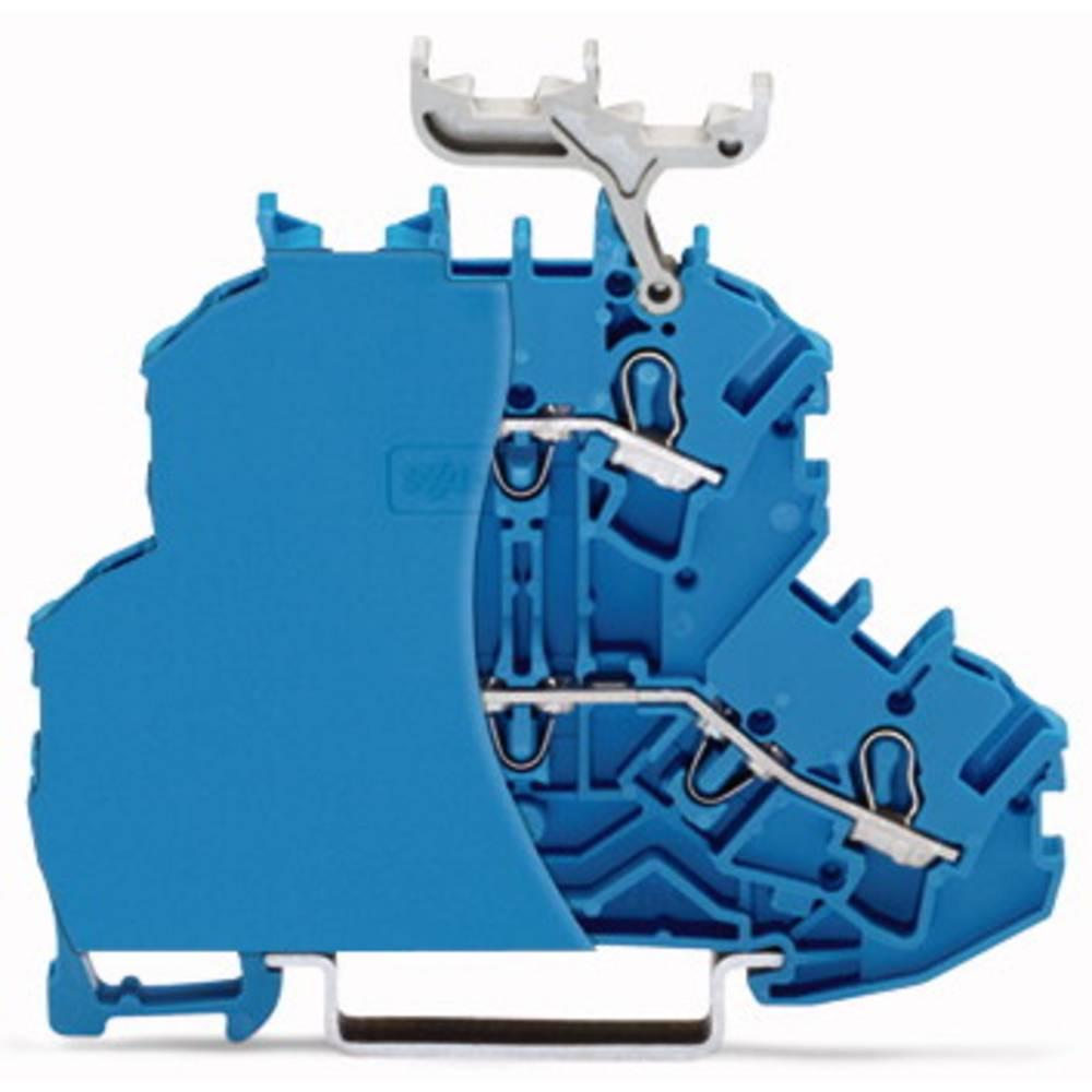 Dobbeltlags-gennemgangsklemme 6.20 mm Trækfjeder Belægning: L, L Blå WAGO 2002-2204/099-000 50 stk