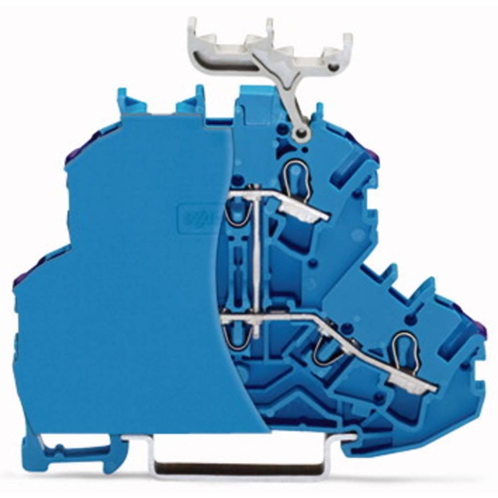 Dobbeltlags-gennemgangsklemme 6.20 mm Trækfjeder Belægning: N Blå WAGO 2002-2209/099-000 50 stk