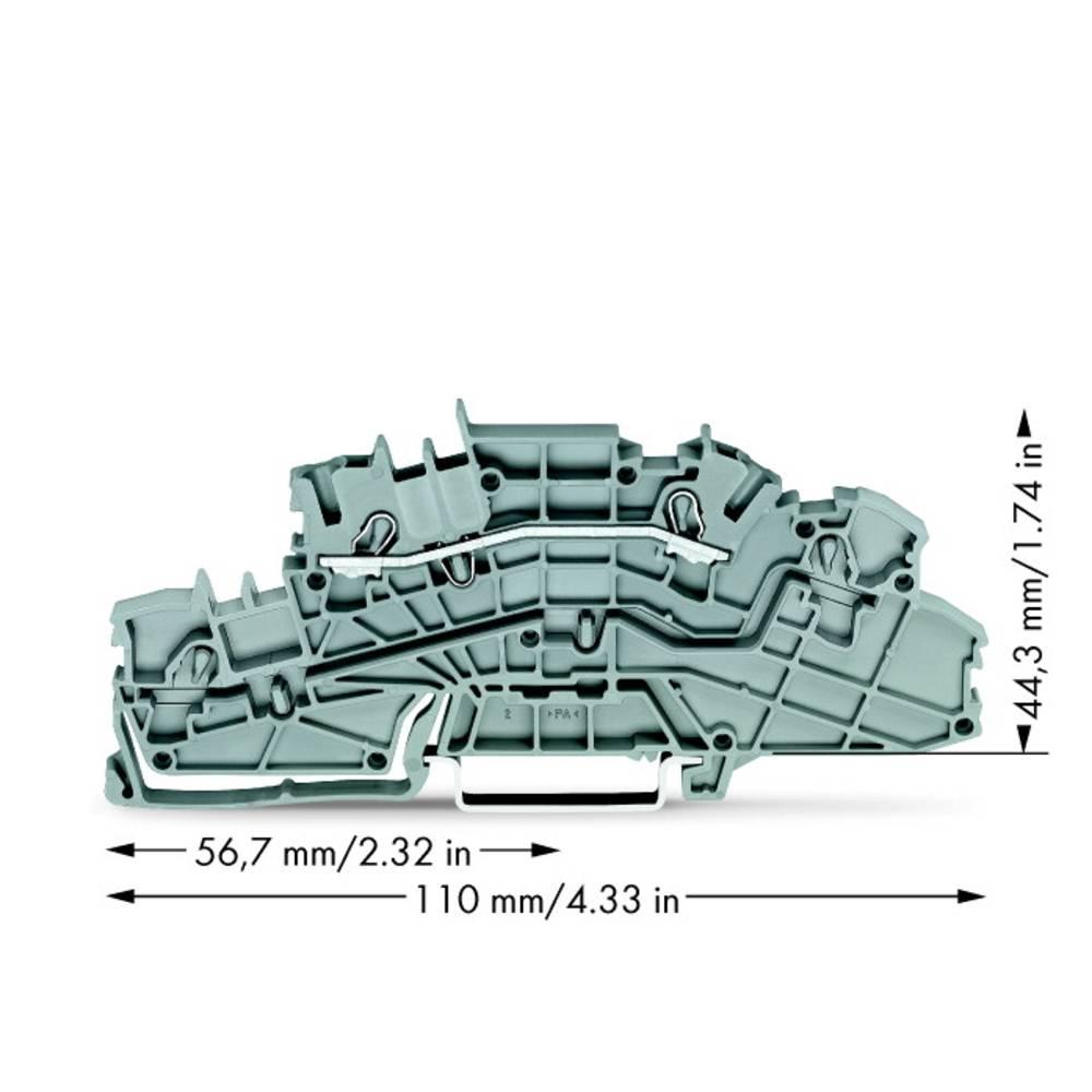 installations-etageklemme 5.20 mm Trækfjeder Belægning: L Grå WAGO 2003-6650 50 stk