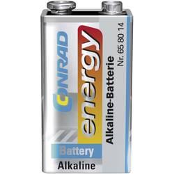 9 V Block baterija, alkalno-manganova Conrad energy 6LR61 9 V 1 kos