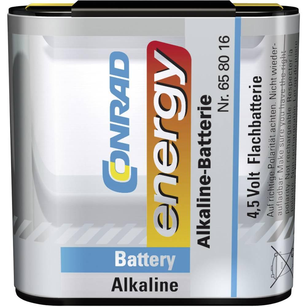 Plosnata baterija 3LR12 Conrad energy alkalno-manganska 4.5 V 1 kom.