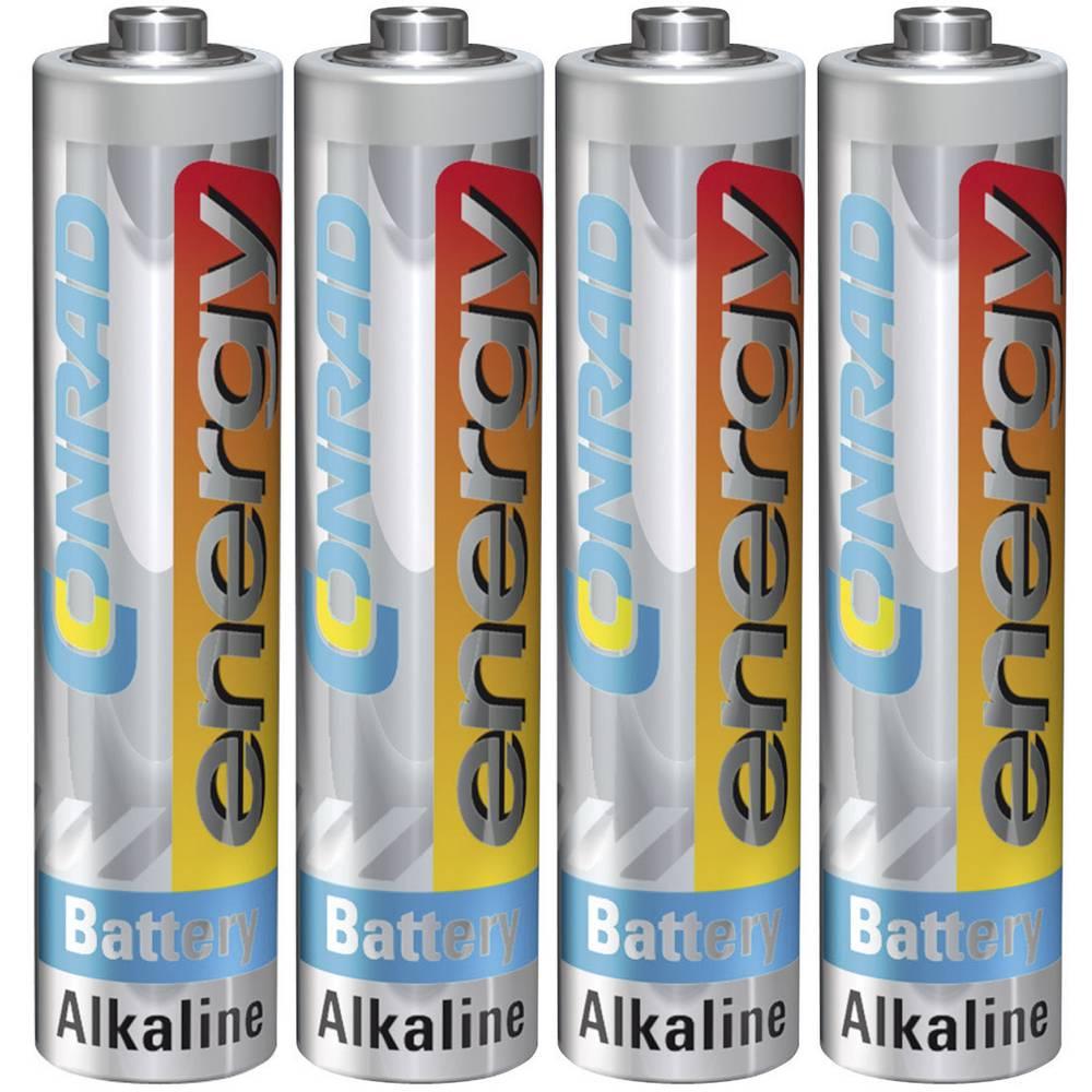 Micro baterija (AAA) alkalno-manganova Conrad energy LR03 1.5 V 4 kosi