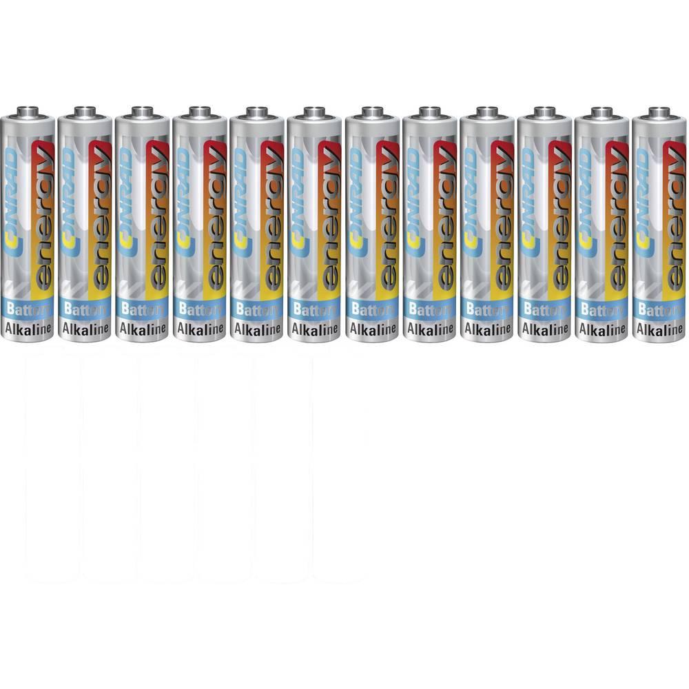 Mikro (AAA) baterija, alkalno-manganska Conrad energy LR03 1.5 V 12 kom.