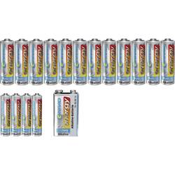 Conrad energy Batteri-sæt Mikro, AA, 9 V-batteri 17 stk