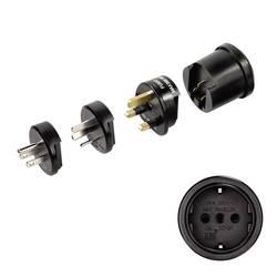 Potovalni adapter Globetrotter, vklj. 3 vtiči za ZDA, Kitajsko in VB, 00047762 Hama