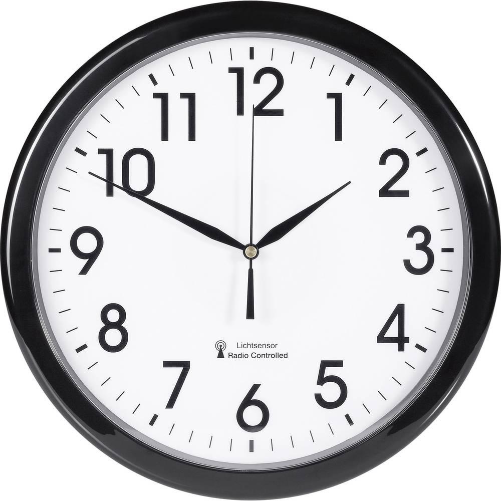 Radijski kontrolirani zidni sat EuroTime 53692-05 30.5 cm x 4.5 cm crne boje